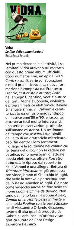 Raro, Raropiù, Francesco Frencio Fecondo, Vidra, Antonella Gigantino, Michela Coppola, viola, synthpop, jpop, shop mecano,