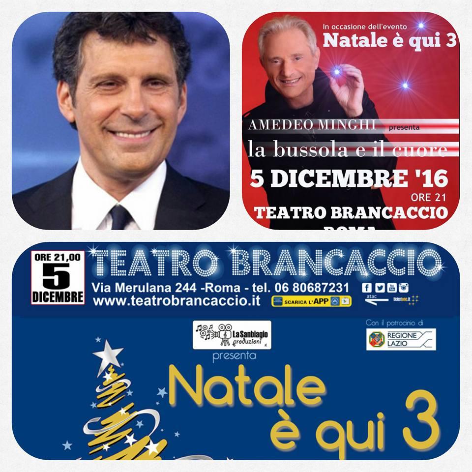 Fabrizio Frizzi, Natale è qui, Amedeo Minghi, Trimotore Idrovolante, Sanbiagio Produzioni, Teatro Brancaccio, orchestra, Pantaneschi, Vidra
