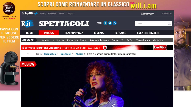 Teatro Brancaccio, Fabrizio Frizzi, Vidra, Synthpop, La fine delle comunicazioni, Rupa Rupa Records,